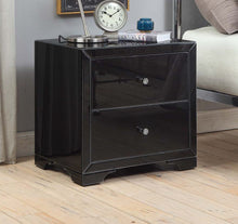 Load image into Gallery viewer, Boulevarde black glass bedside
