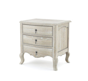 Juliette white oak french provincial bedside