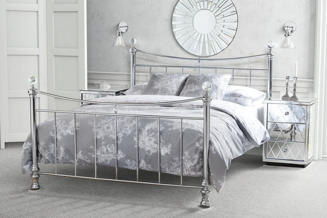 Crystal chrome bed