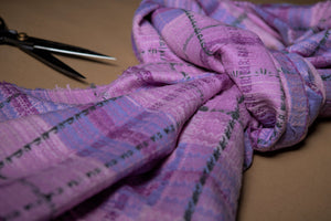 Purple Thistle Slender Scarf