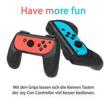 Laden Sie das Bild in den Galerie-Viewer, Joy Con Grip - 2x Nintendo Switch Controller Halterungen - ergonomisches Gamepad
