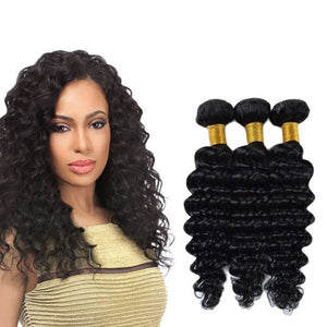 Soul Lady Peruvian Deep wave Virgin Hair 3 Bundles Human Hair Weave