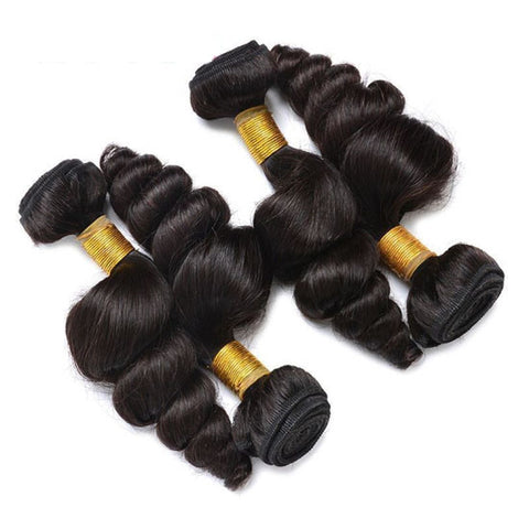 Soul Lady Brazilian Loose Wave Virgin Hair 3 Bundles Human Hair Weave