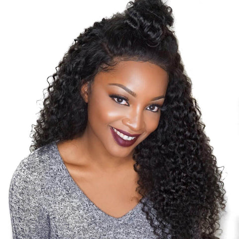 Image of Soul Lady New Jerry Curly 3 Bundles With Vietnam Hair 13x4 Lace Frontal Closure