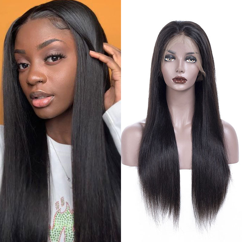 150% Density Brazilian Straight Hair 13x6 Lace Front Wig