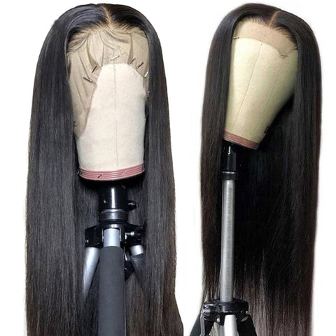 Image of Brazilian 13x4 HD Transparent Glueless Lace Front Human Hair Wigs