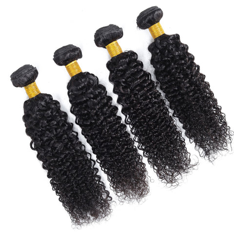 Soul Lady Brazilian Kinky Straight Virgin Hair 4 Bundles Human Hair Weave