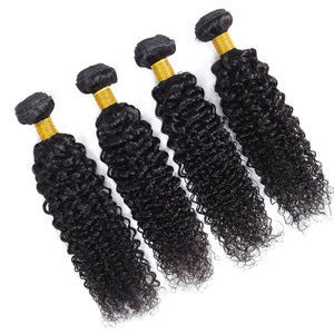 Soul Lady Indian Jerry Curly Virgin Hair 4 Bundles Human Hair Weave