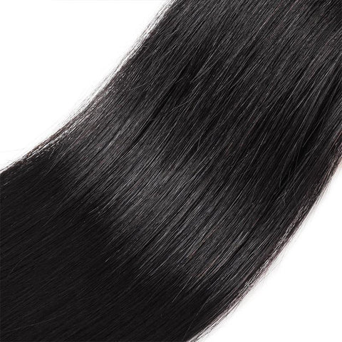 Soul Lady Peruvian Straight Hair 13x4 Lace Frontal Closure With 3 Bundles Human Hair
