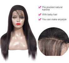 Load image into Gallery viewer, 150% Density 13x4 Long Brazilian Straight Lace Front Wig with Baby Hair - soulladyhair