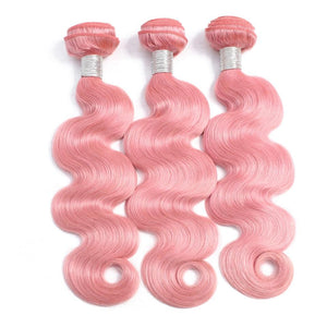 Peruvian pink hair extensions body wave
