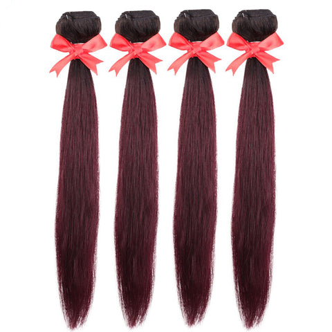 Image of 4pcs Peruvian remy human hair weaving