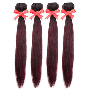 4pcs Peruvian remy human hair weaving