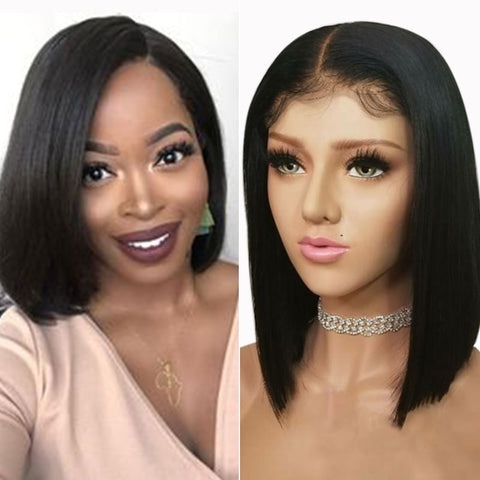 Image of 130% Density Malaysian 13x4 Lace Front Wigs Hair Straight