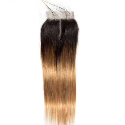 Image of 1b/27 lace closure 4x4 straight