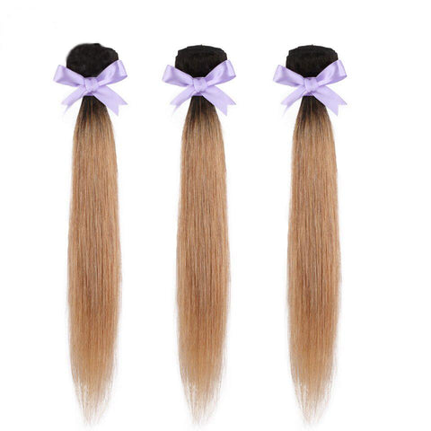 Image of Ombre 1b/27 Brazilian human hair bundels