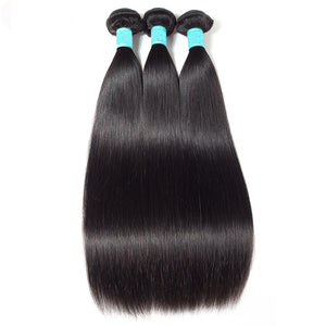 Soullady hair Straight bundles Brazilian Virgin Human Hair weave 3 bundles