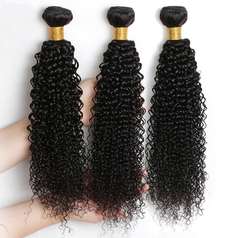 Image of Soul Lady Brazilian Deep Curly Virgin Hair 3 Bundles Human Hair Weave