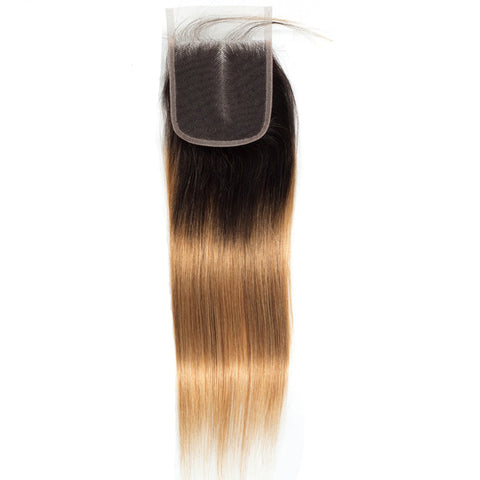 Image of Peruvian remy human hair 4x4 closure