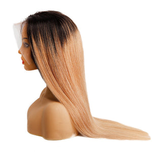 Indina long straight hair lace wig