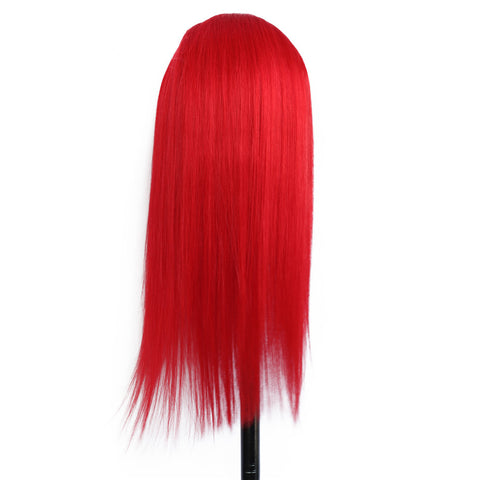 Image of Red Lace Front Human Hair Wigs Pre Plucked With Baby Hair 13X4 Brazilian Remy Straight Glueless
