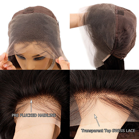 Image of 13x4 HD Transparent Glueless Lace Front Human Hair Wigs