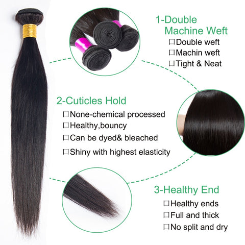 Soul Lady Vietnam Straight Virgin Hair 3 Bundles Human Hair Weave