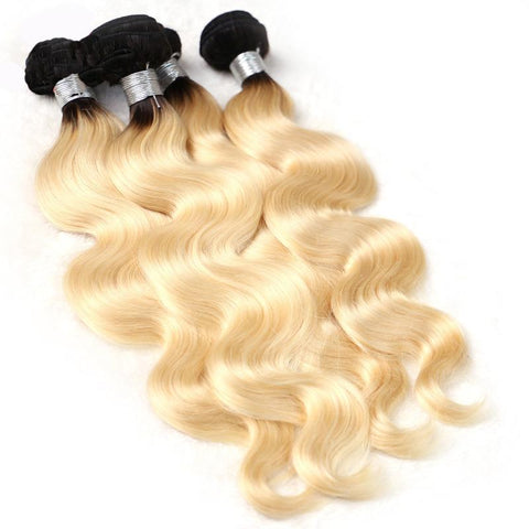 Image of 4 bundles Peruvian human hair weaving