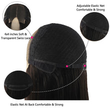 Load image into Gallery viewer, 150% Density Brazilian Transparent 4x4 Lace Closure Wig