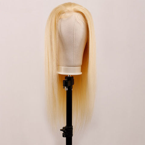 Image of Soul Lady 180% Density Brazilian Straight 613 Honey Blonde 13x4 Frontal Lace Wig