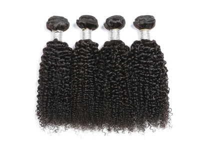 Soul Lady Vietnam Human Hair Kinky Curly 4 Bundles With 4x4 Lace Closure