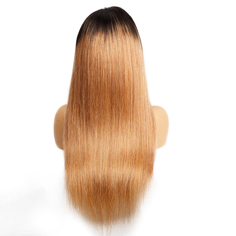 Indian ombre hair brown to blonde wig