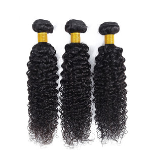 Soul Lady Peruvian Deep Curly Virgin Hair 4 Bundles Human Hair Weave