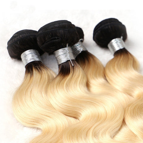 Image of ombre blonde hair extensions