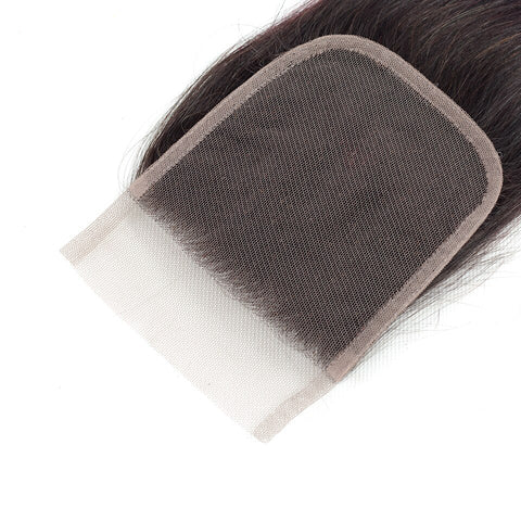 Image of Ombre T1b/burgundy Malaysian Straight Hair Bundles With 4x4 Closure