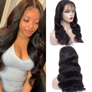 150% Density Brazilian Pre Plucked Transparent Lace Frontal Wig Body Wave