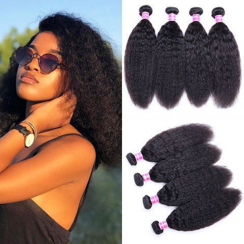 Image of Soul Lady Vietnam Kinky Straight Virgin Hair 4 Bundles Human Hair Weave