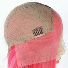 Load image into Gallery viewer, 130% Density Brazilian 13x4 Pink bob lace front wig - soulladyhair