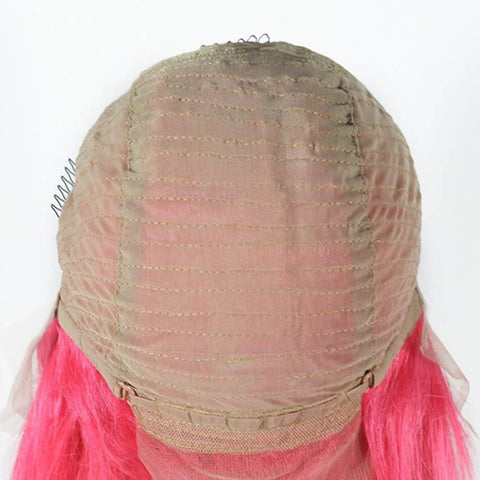Image of 130% Density Brazilian 13x4 Pink bob lace front wig - soulladyhair