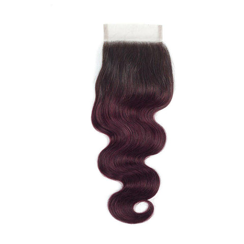 Image of peruvian hair 4x4 lace closure