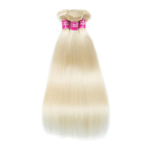 Image of 613 blonde Brazilian remy hair bundles with 13x4 lace closure - soulladyhair
