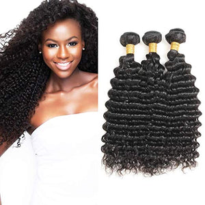 Soul Lady Vietnam Deep Curly Virgin Hair 3 Bundles Human Hair Weave