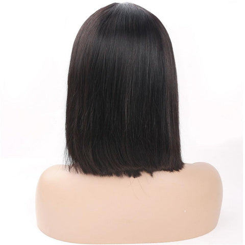 Brazilian 13x4 short straight human hair lace wig 150% density - soulladyhair