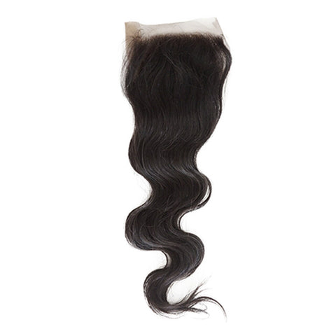 Image of Soul Lady Peruvian 4x4 Transparent Lace Closure With Body Wave Hair 3 Bundles