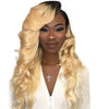 Soul Lady Body Wave Ombre 613 Blonde Brazilian 4 Bundles With Lace Frontal Closure