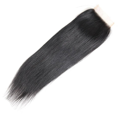 3 bundles Brazilian  straight virgin hair with 4x4 lace closure - soulladyhair