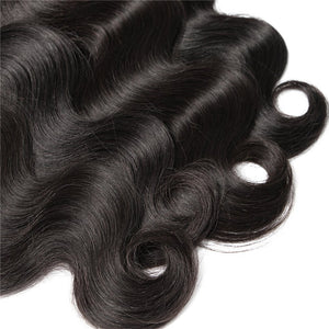 Soul Lady Indian Body Wave Virgin Human Hair 3 Bundles With Lace Closure
