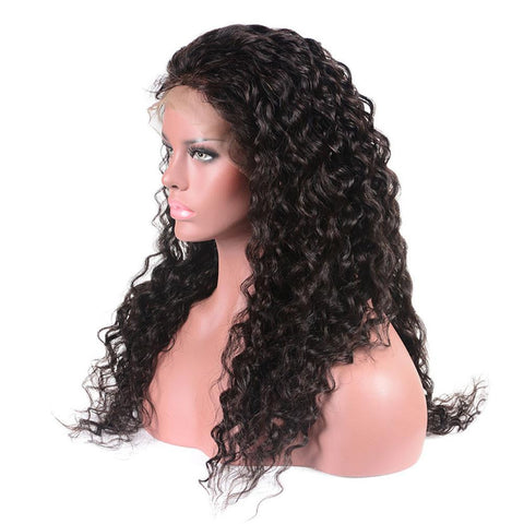 Image of Kinky Curly 13x4 Brazilian Virgin Human Hair Lace Front Wig 150% Density - soulladyhair