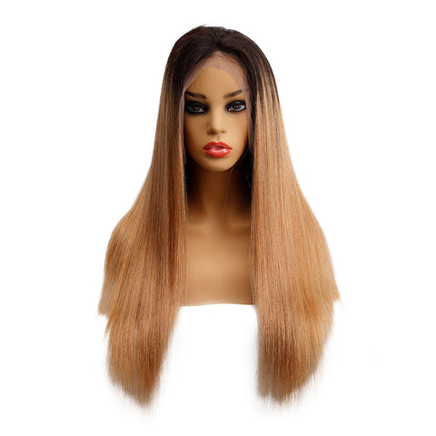 Image of Ombre Brown 1B/27 13x4 Lace Front Wig Straight Hair