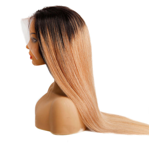 Image of Indian human hair lace front wig 180% density